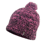 Waterproof Beanie Cable Pompom Pink