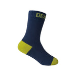 Ultra Thin Children Waterproof Sock Navy Lime