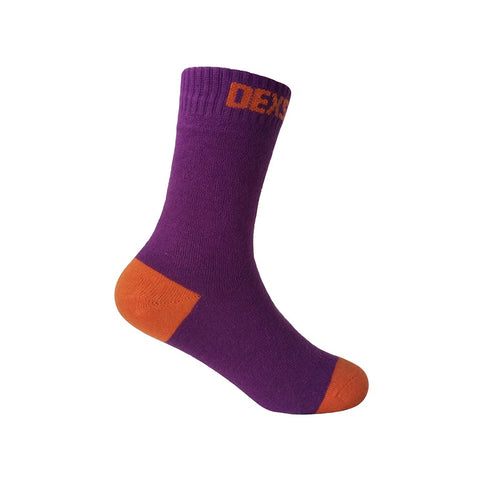 Ultra Thin Children Sock Purple Orange