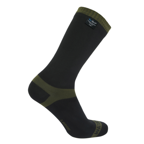 Trekking Waterproof Socks Stripe Olive Green