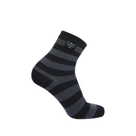Ultralite Bamboo Waterproof Socks Gray Stripe