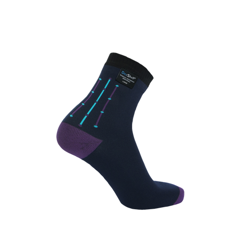 Ultra Flex Waterproof Socks Navy Jacquard