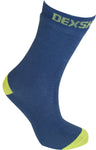 Ultra Thin Crew Length Waterproof Sock Navy Lime