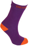 Ultra Thin Crew Length Waterproof Sock Purple Orange