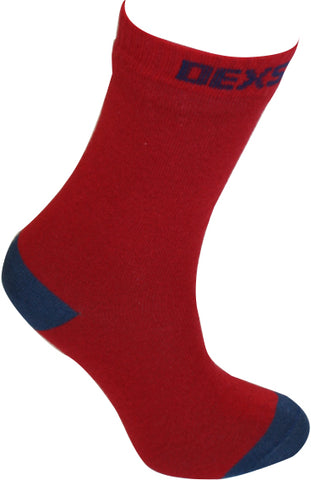 Ultra Thin Crew Length Waterproof Sock Red Navy