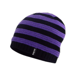 Children Beanie Purple Stripe
