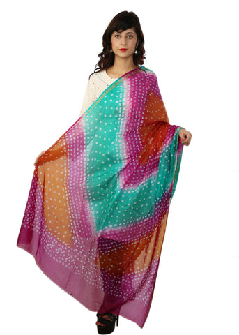 Dark Evening Bandhani Dupatta