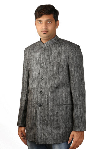 Khadi Coat - Black & White
