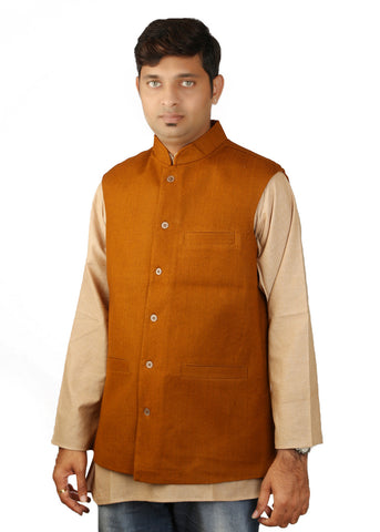 Khadi Jacket - brown