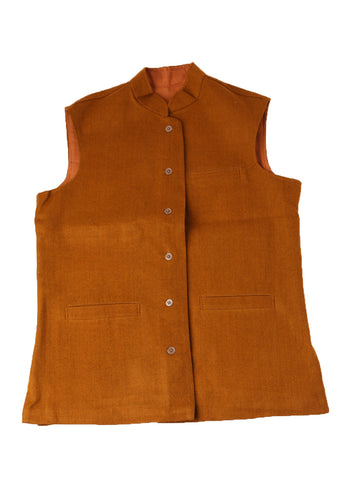 Khadi Jacket - Golden Brown