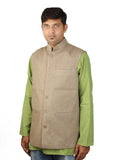Khadi Jacket - Greenish Brown