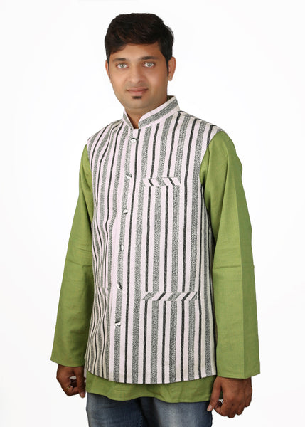 Khadi Jacket - white