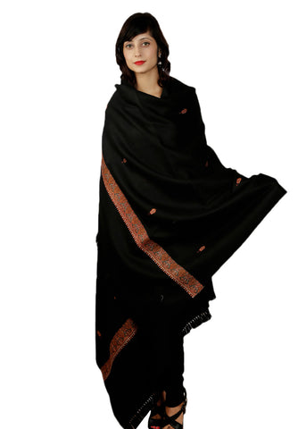 Night Queen Kashida Shawl