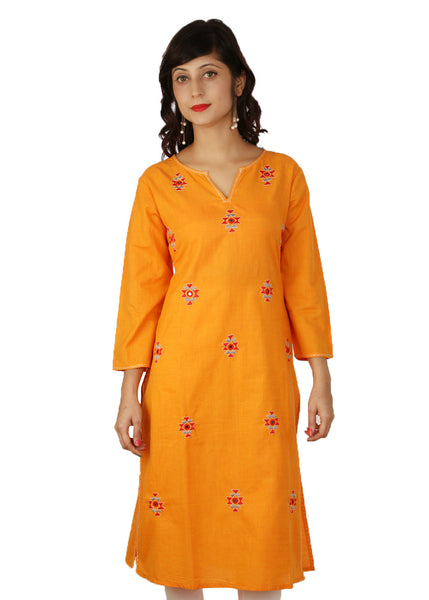 Orange Candy Kurti