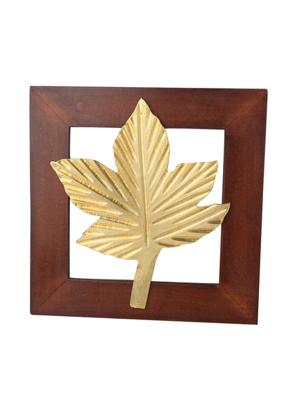 Wooden Panel Maple Leaf