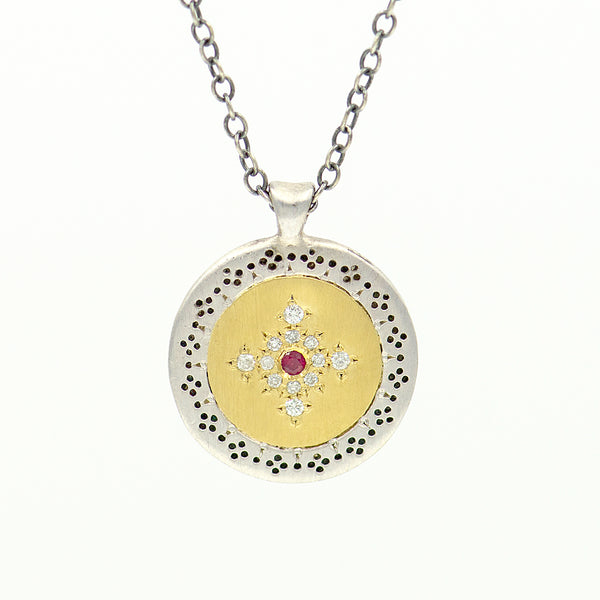 gold-sterling-ruby-diamond-necklace-pendant-Adel-Chefridi