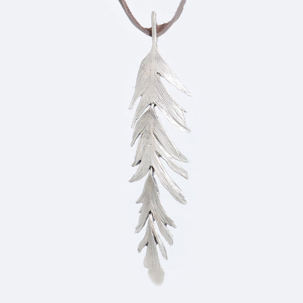 Michael-michaud-silver-feather-pendant
