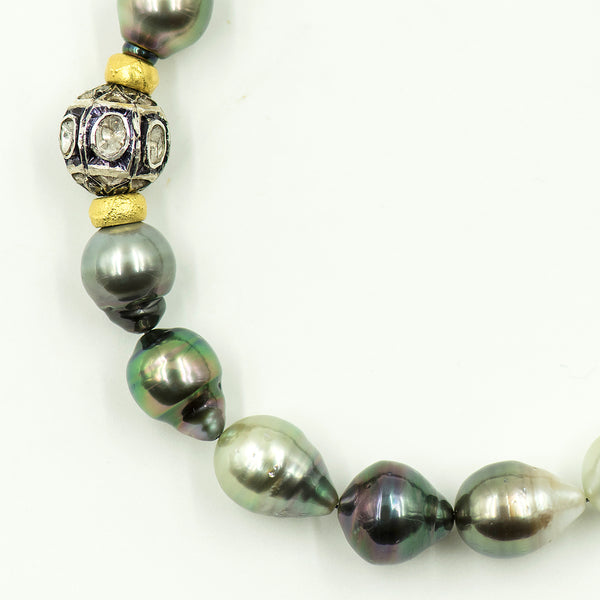 tahitian-pearl-diamond-encrusted-sterling-silver-necklace-Jennifer-Kalled