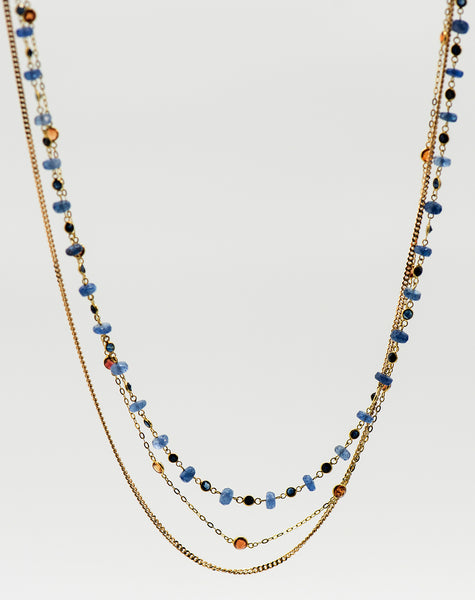 Jennifer-Kalled-3-strand-18k-gold-chain-necklace-tanzanite-sapphires