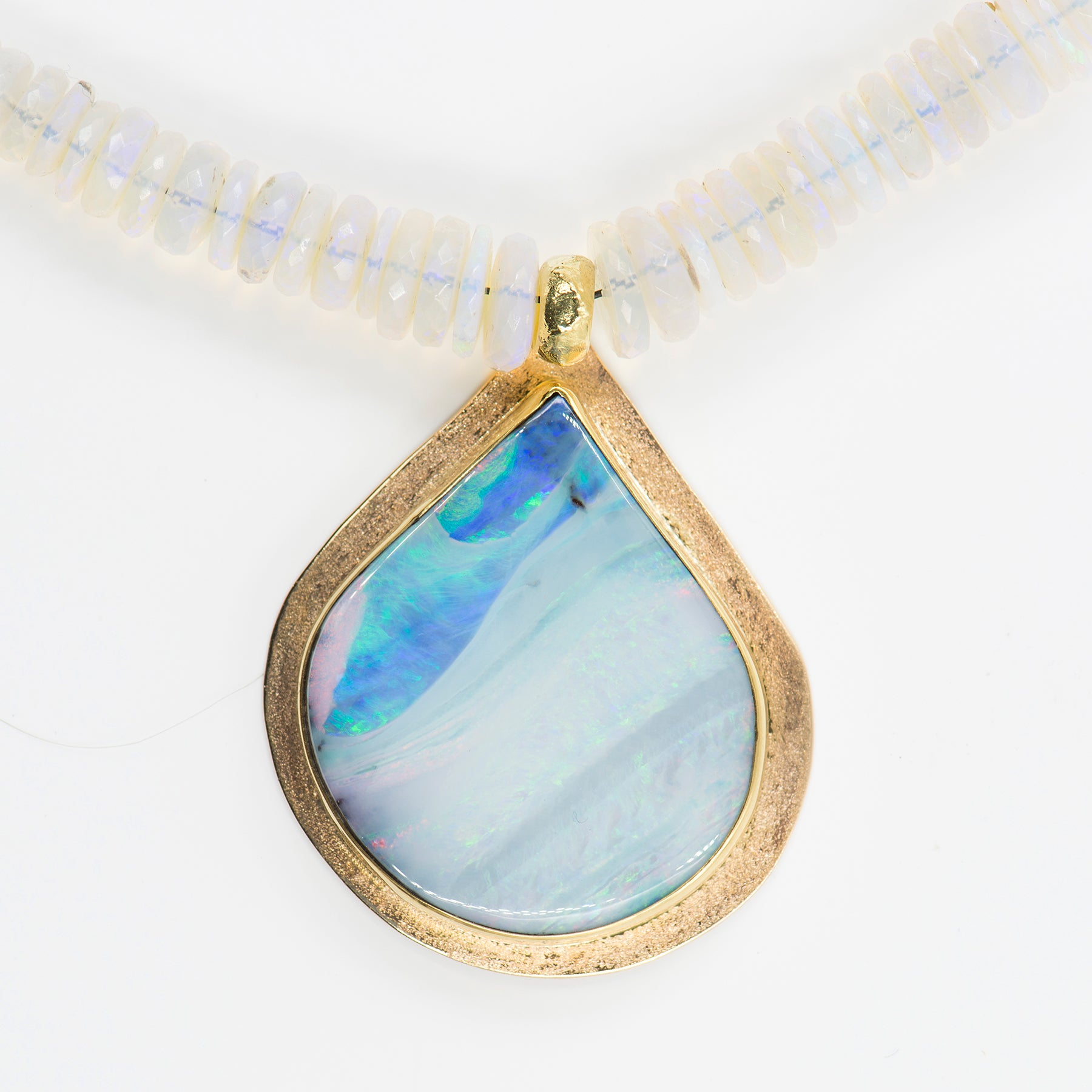 g opal yellow jewelry gold boulder flashopal handmade sale pendant
