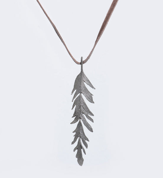 Michael-Michaud-Silver-Seasons-Feather-pendant-necklace