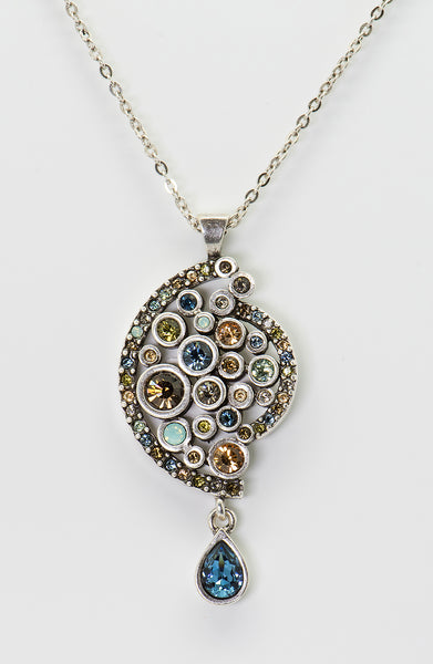Patricia-Locke-Harlowe-Cascade-necklace-sterling-silver-crystal