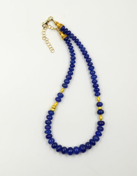 tanzanite-beads-18k-gold-beads-necklace-Jennifer-Kalled