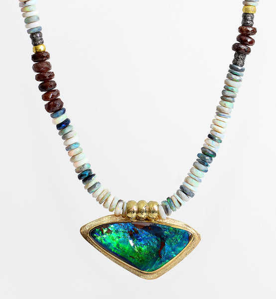 Jennifer-Kalled-pendant-necklace-boulder-opal-beaded