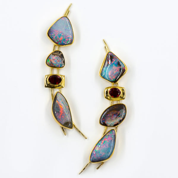 boulder-opal-sapphire-gold-earrings-Jennifer-Kalled