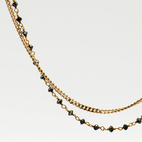 Jennifer-Kalled-double-strand-chain-black-diamond-18k-gold