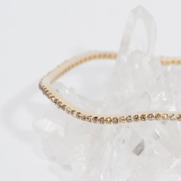 Sunshine-Gems-California-Collection-wavy-bangle-bracelet-gold-overlay-raw-diamonds