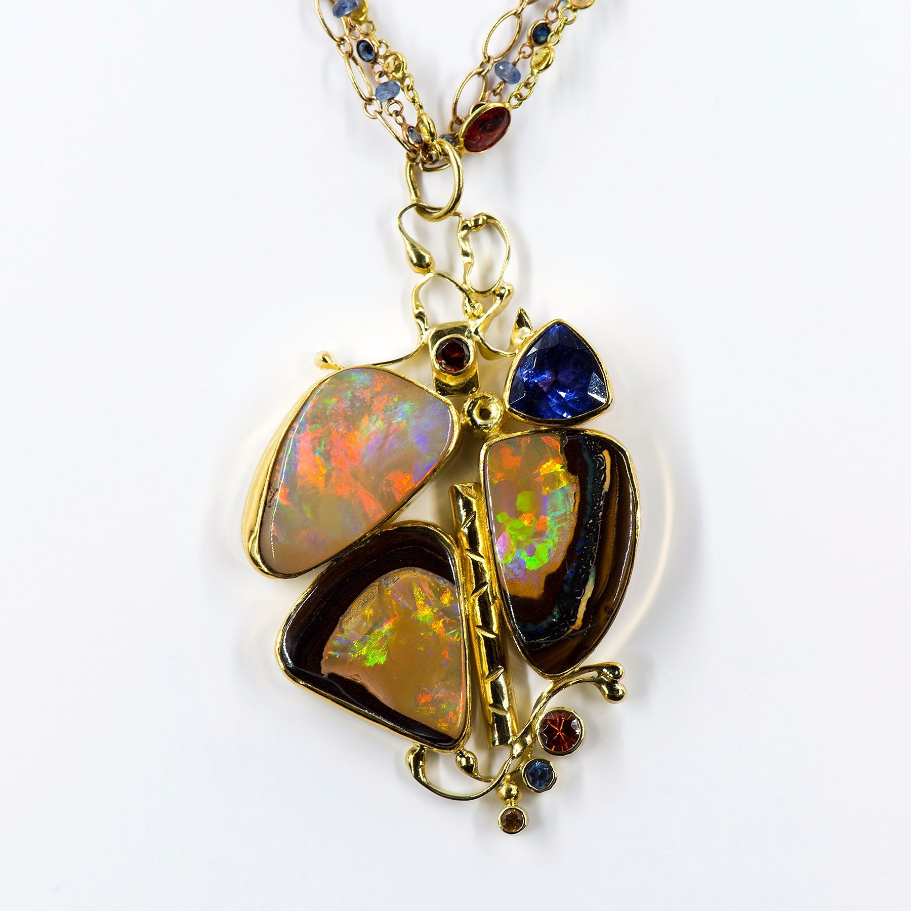 boulder shop pendant opal matrix solid macs img opals blue green
