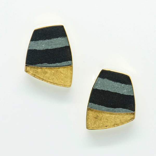 hematite-gold-earrings-22k-18k-Jennifer-Kalled