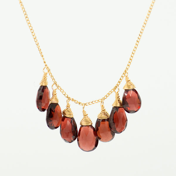 garnet-gold-fill-necklace-Sara-Danielle-Kalled-Gallery