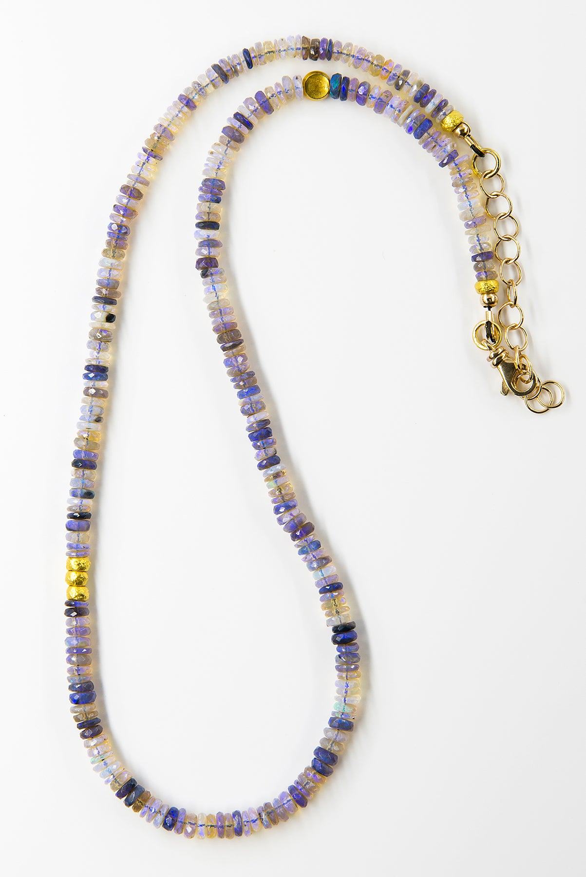 Opal Bead Necklace and Earrings