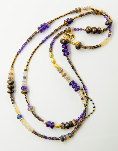 gem-beaded-chain-necklace-amethyst-opal-Jennifer-Kalled