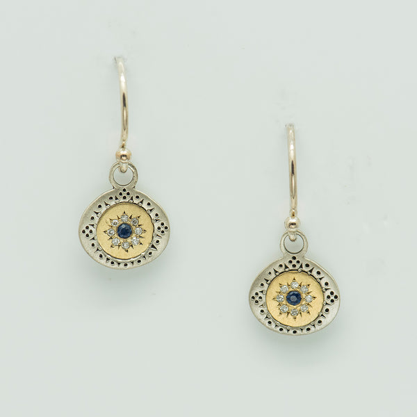 adel-chefridi-sterling-silver-gold-sapphire-diamond-earrings-kalled-gallery