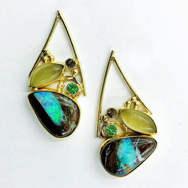 boulder-opal-pipes-aquamarine-gold-earrings-Jennifer-Kalled