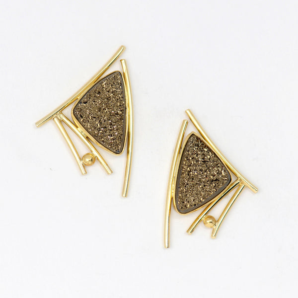 oriental-moonbeam-drusy-post-22k-18k-14k-gold-earring-Jennifer-Kalled