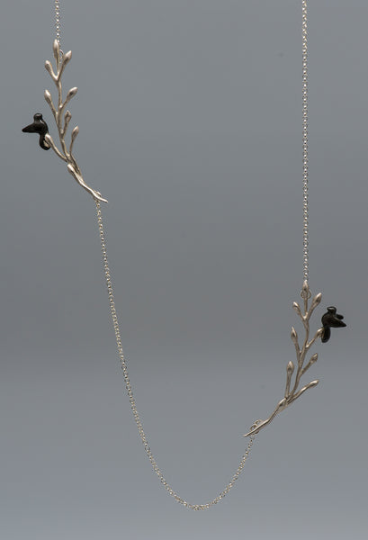 Chee-Me-No-sterling-silver-necklace-birds-Kalled-Gallery