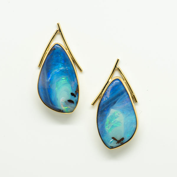 Jennifer-Kalled-australian-boulder-opal-earrings 22k-18k-gold-kalled-gallery