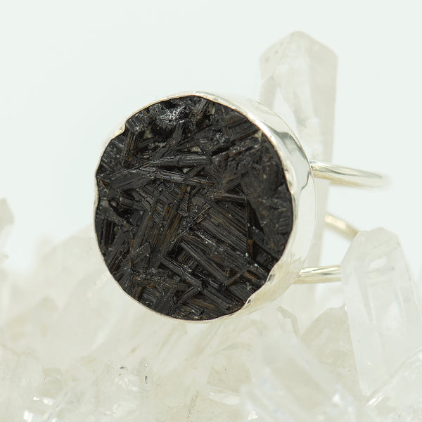 black-tourmaline-sterling-silver-ring-Jennifer-Kalled