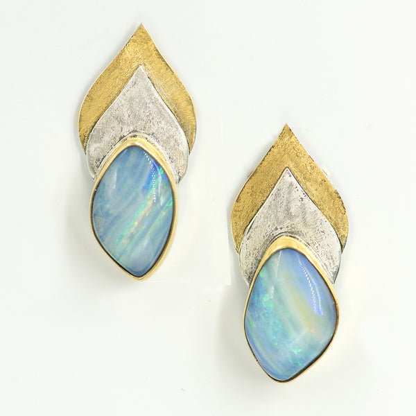 opal-bi-metal-22k-sterling-silver-earring-Jennifer-Kalled