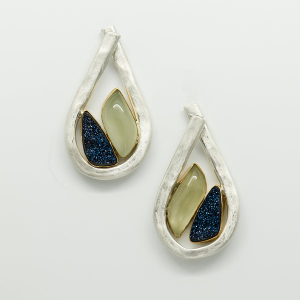 Jennifer-Kalled-teardrop-aquamarine-drusy-post-sterling-silver-earrings-kalled-gallery