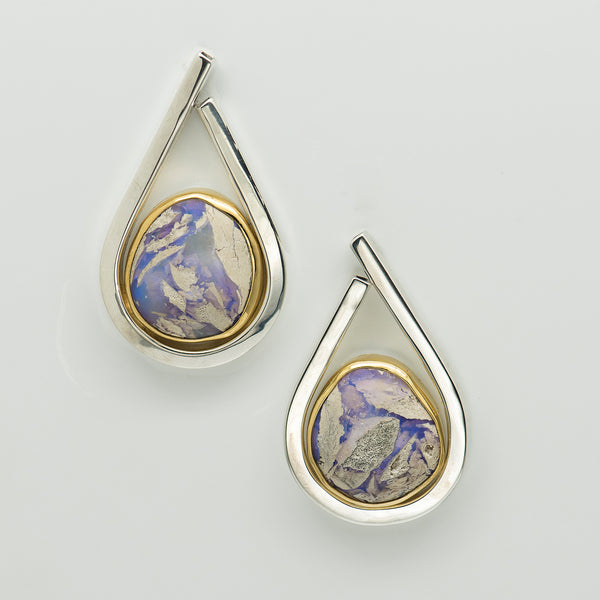 Jennifer-Kalled-opal-petrified-wood-earrings-post-sterling-silver-gold-kalled-gallery
