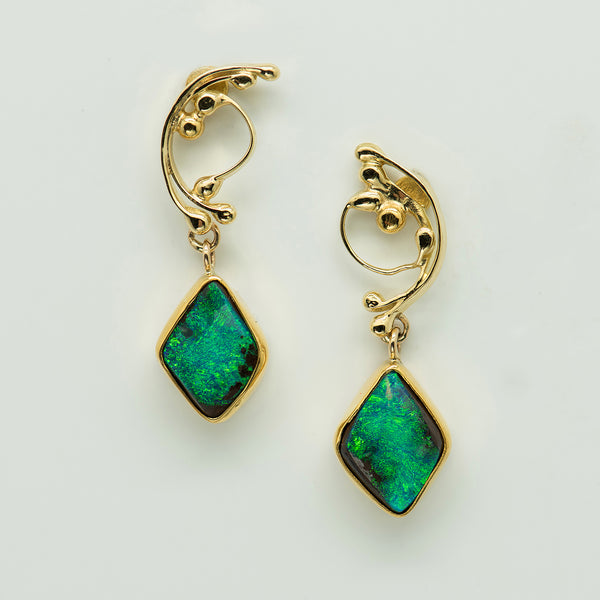 Jennifer-Kalled-Australian-boulder-opal-earrings-22k-18k-gold