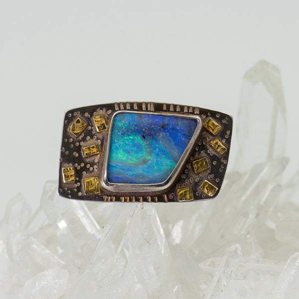 Julie-Shaw-ring-sterling-silver-22k-gold-opal