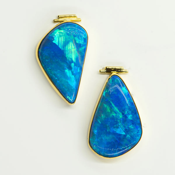 opal-australian-boulder-opal-post-earrings-22k-18k-gold-Jennifer-Kalled