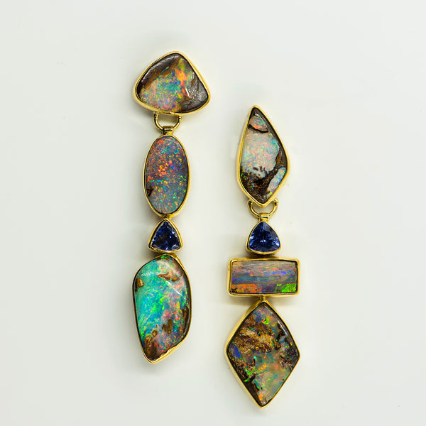 opal-australian-boulder-opal-amethyst-22k-18k-14k-gold-earrings-Jennifer-Kalled