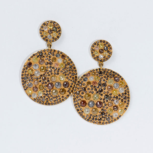 Sunshine-Gems-Bavna-multicolor-raw-diamonds-earrings-18k-gold